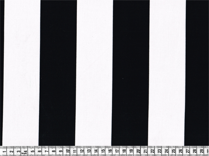 stribet stof sort hvid