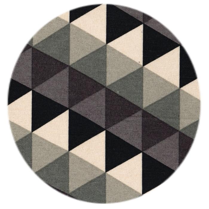 Stof med Grafisk Trekant mønster. Pudestof. Shop online