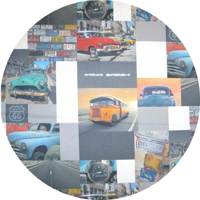 Stof, Kraftig bomuld med fotoprint, Oldsmobile, pr.0,25 m. - STOF og STUFF - kreativ livsstil ...