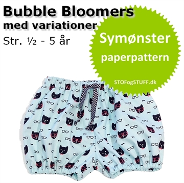 Bubble Bloomers symønster i papir