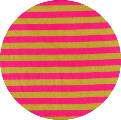 Velour, stribet, Pink/kiwi, pr. 0,25 m.